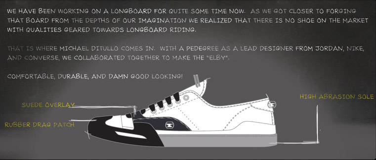 Shoes for longboarding