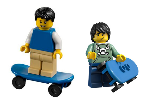 Lego's current version of skateboarders